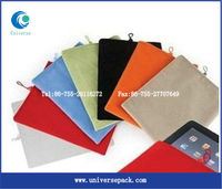 custom velvet product pouches for mini ipad ,phone