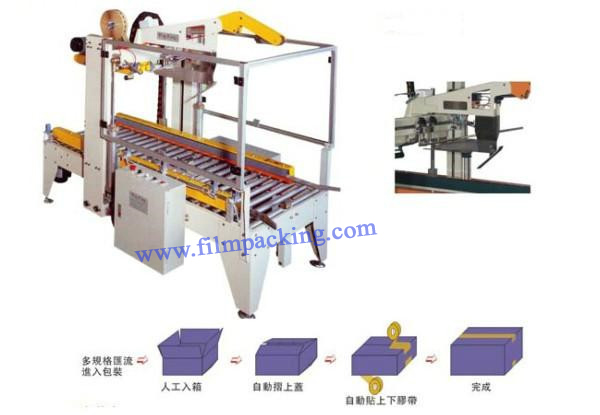 Full-automatic Adjustable High Quality Carton Flap Folding Sealing Machine/Sealer