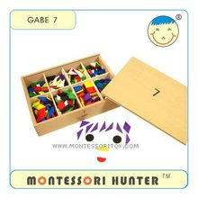 GABE 7 Parquetry Tablets, Preschool Toys Educational Froebel