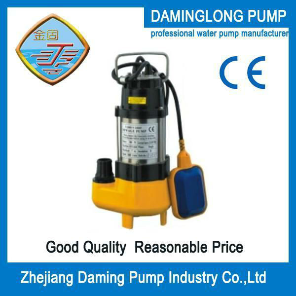 no-blocking cutting centrifugal submersible pump/water pump