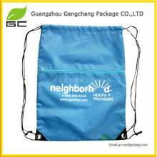 2017 Hot Sale Printing Polyester Pouch Plastic Bag Printing Custom Drawstring With Logo For Packing