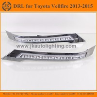 New Arrival Hot Selling LED DRL for Toyota Vellfire Super Quality LED Daytime Running Lights for Toyota Vellfire 2013-2105