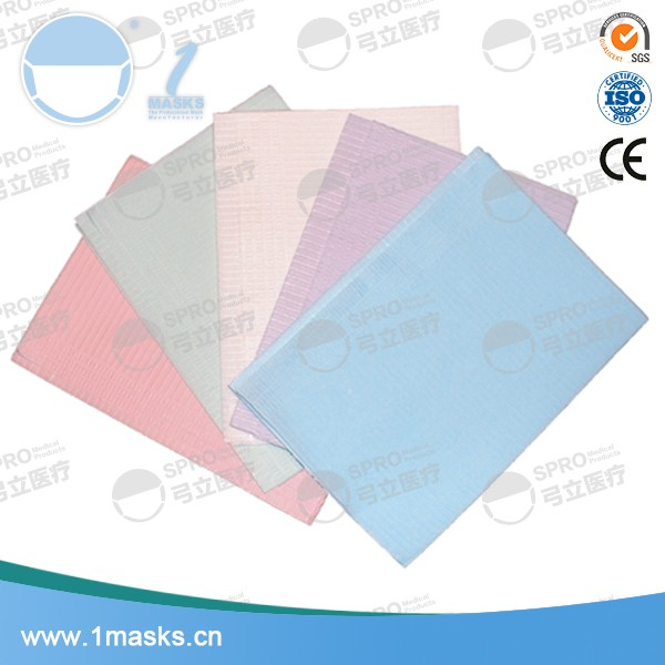 Multi colors patient medical waterproof disposable dental bibs