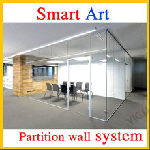 glass on wall /tall cubicle walls /glass wall doors