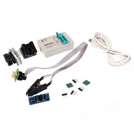 USB High Speed Programmer EZP2010 24 25 93 EEPROM with Clips Socket Adpter
