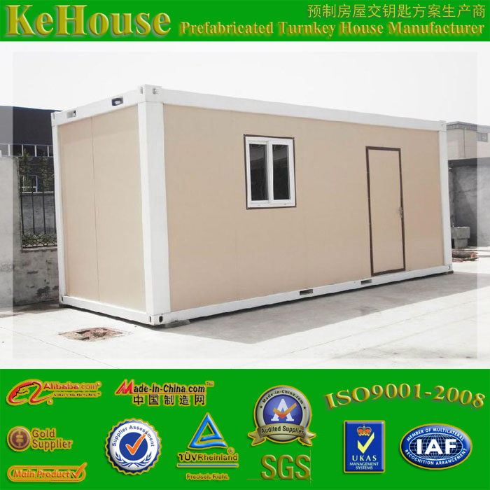 20ft movable sandwich panel log cabin portable food container restaurant for sale