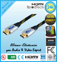 double ended hdmi cable 1.4 v With Ethernet Support 3D / 1080 P for STB / XBOX 360 /