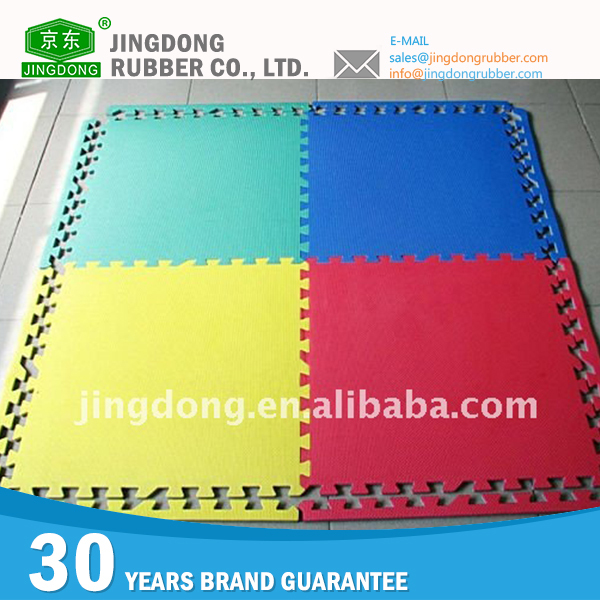 Colored Interlocking Exercise eva tatami judo mats