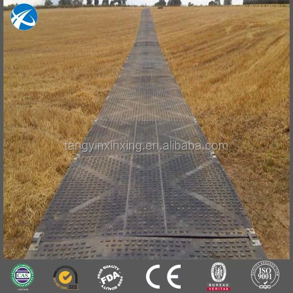 Temporary Road System UHMWPE Anti Slip Mat for muds