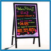 Best Selling Advertising LED Open Signs With Remote Aluminum Alloy Frame Acrylic Rounded Corner LED Writing Board China Supplier