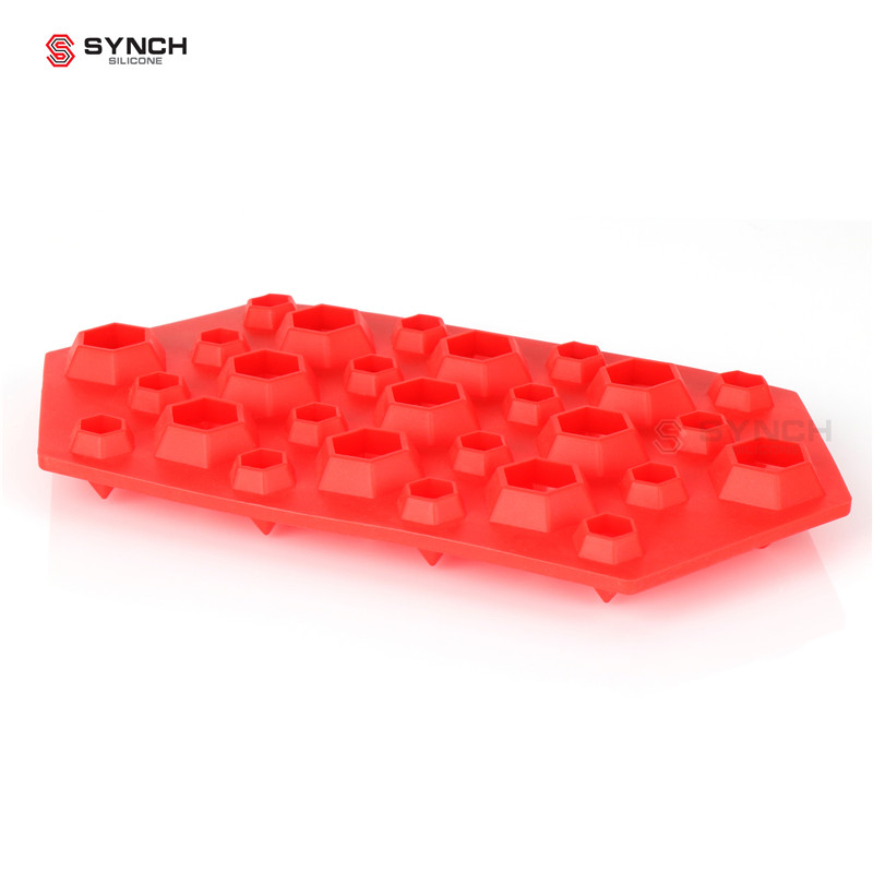 Diamond Ice Cube Trays Silicone Mold For Diamond Shaped For Ice and deserts