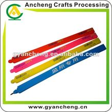 Screen printed silicone rubber wristband bracelets pen ACP1235