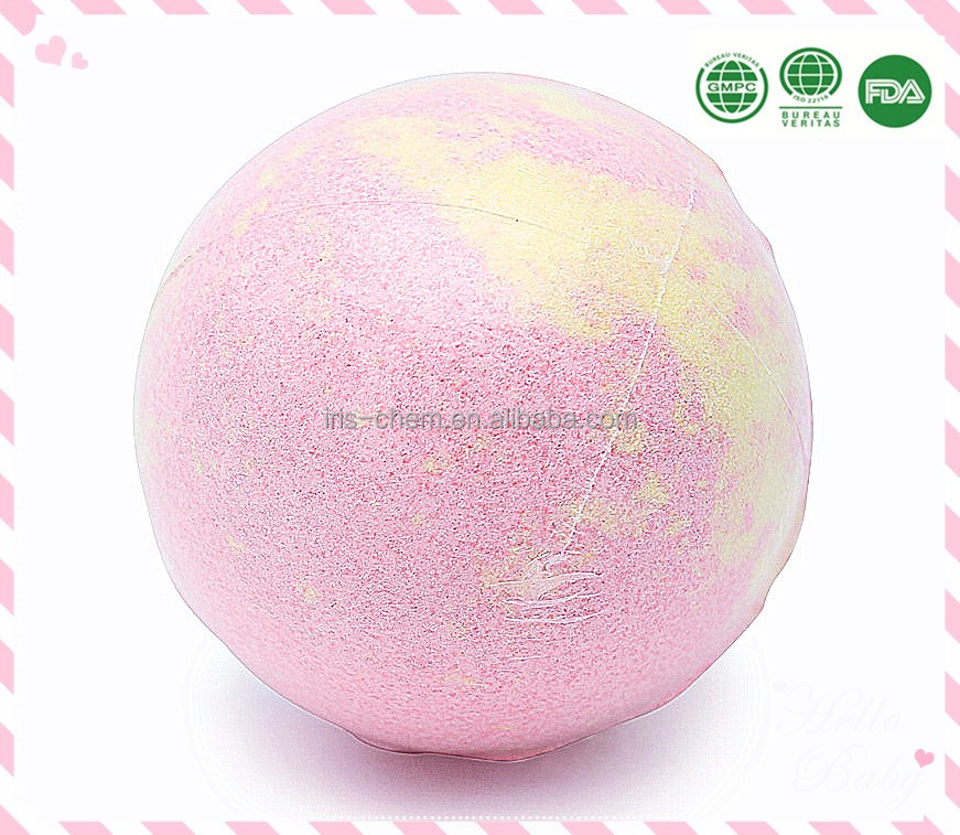 Essential oil and natural bath fizzer bath bombs for body wash skin care