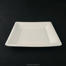 6'' biodegradable bagasse square plate