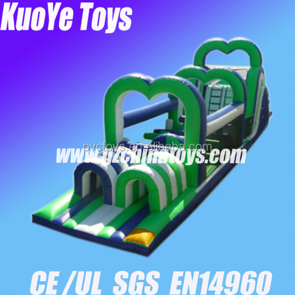 kids backyard toys obstacle supreme inflatable obstacle course