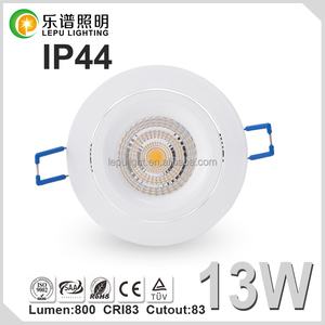 IP44 led lighting 83mm Cutout ultra light down jacket dimmable 8W 13W 2700K Reflector Lens version option