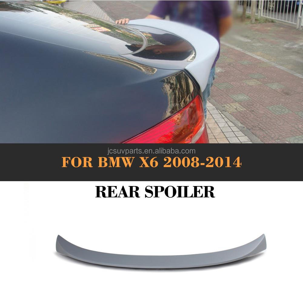 AC style FRP Trunk Spoiler Rear Wing Lip Fit for BMW E71 X6 2008-2014