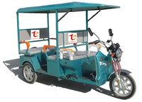 electric tricycle for passenger with cover