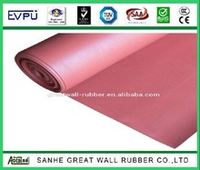 1/8'' thickness 48'' width 50ft length Industrial sheet of rubber red SBR rubber sheeting