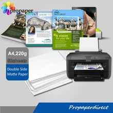 factory supply 220g cast coated double side matte inkjet photo paper