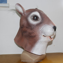 Brown Squirrel Mask Halloween Deluxe Animal Squirrel Head Masks Best For Cosplay Party