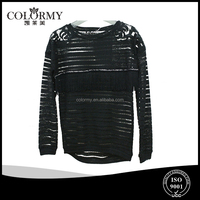 ladies sexy long sleeve transparent blouse lace and frienge fashion tops wholesales