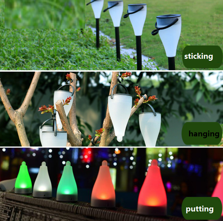 Smart Changing Color Solar Yard Light