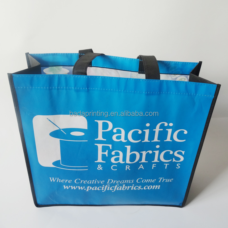 One color printing pp woven bag/shopping bag