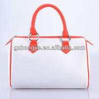 Bulk white pu lady hand bag