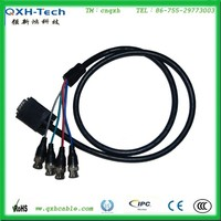 factory direct sale HDB15P/VGA/SVGA to RCA male to male cable for computer monitor