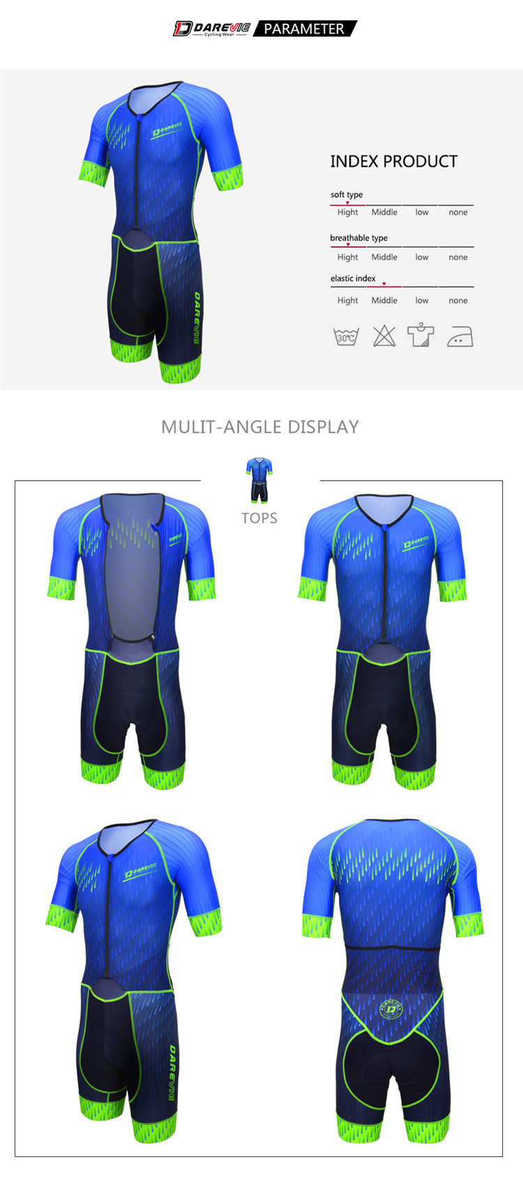 High Quality Quick Dry Pro Cycling Skin suits/Mens Cycling Skin suit Cheap