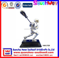 Hot Selling Baseball Figure Trophy Souvenir Baseball Bat Figurine
