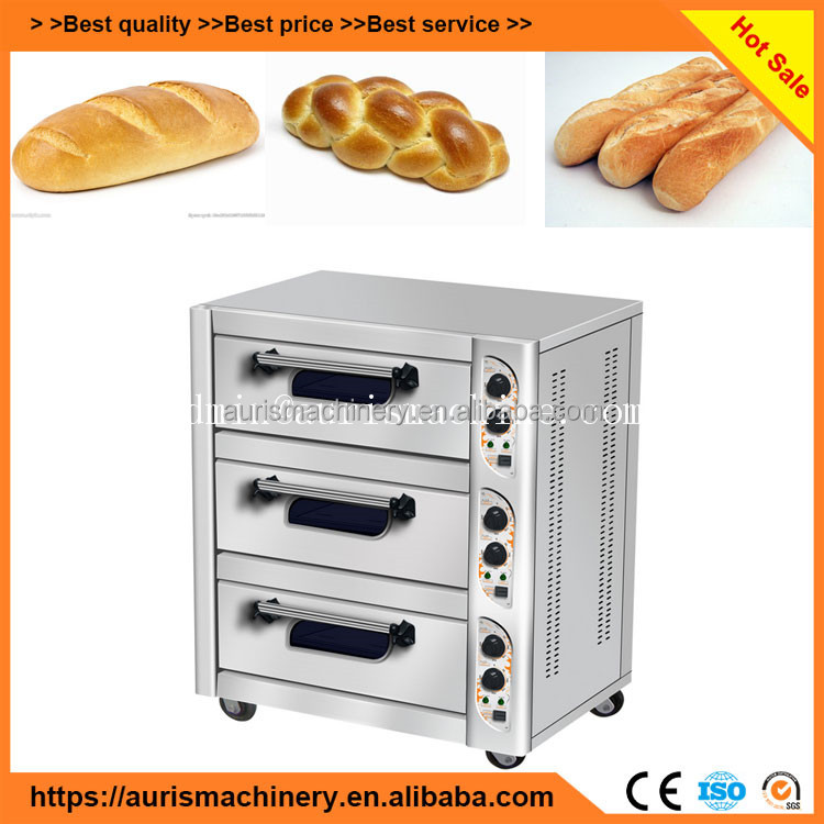 bakery equipment 3 deck gas bread baking oven for sale