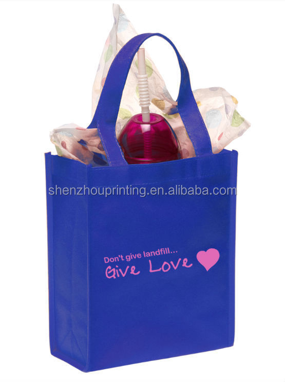 China factory supply promotional custom printed recycled eco packaging pp shopping coated non woven gift bag