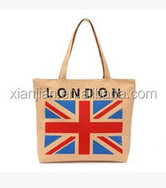Custom made Cotton jute Canvas handbag made in london (BWY018)