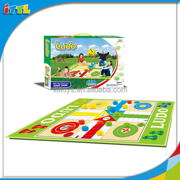 A644681Preschool Educational Play Mat Kids Ludo Giant Game Plastic Ludo Board Game