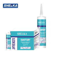 Odorless antimicrobial waterproof silicone sealant for plastic