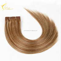 First Selling Human Hair Private Label Directly Factory Price Shedding Free No Tangle piano color hair weave