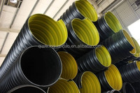 large sizes plastic corrugated drainage pipe with steel belt