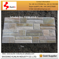 Supply stacked cultural stone wall slate with beleved