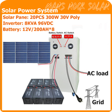 5KW Off Grid Solar Power System for Residential Use Contains 20PCS 250W Solar Panel 1 Set 8KVA Hybrid Controller Inverter