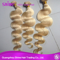 8a grade 100% unprocessed euro body wave 613 blonde new golden hair extension