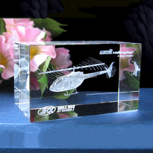 Factory direct cheap elegant luxury crystal 3d laser engraving airplane model