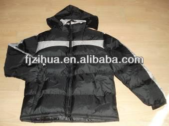 Kinds of factory stock garments for men winter jacket