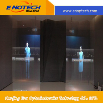 China ENOTECH hologram rear projection film/foil for shop window, display, museum, advertising, store, exhibition