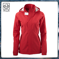 Ladies running extrem winter rain breaker coats softshell jacket