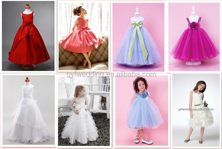 Fashion Crystals Hand Flowers White Organza Ball Gown Flower Girl ...