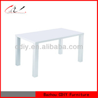high quality modern white mdf dining table DT-038