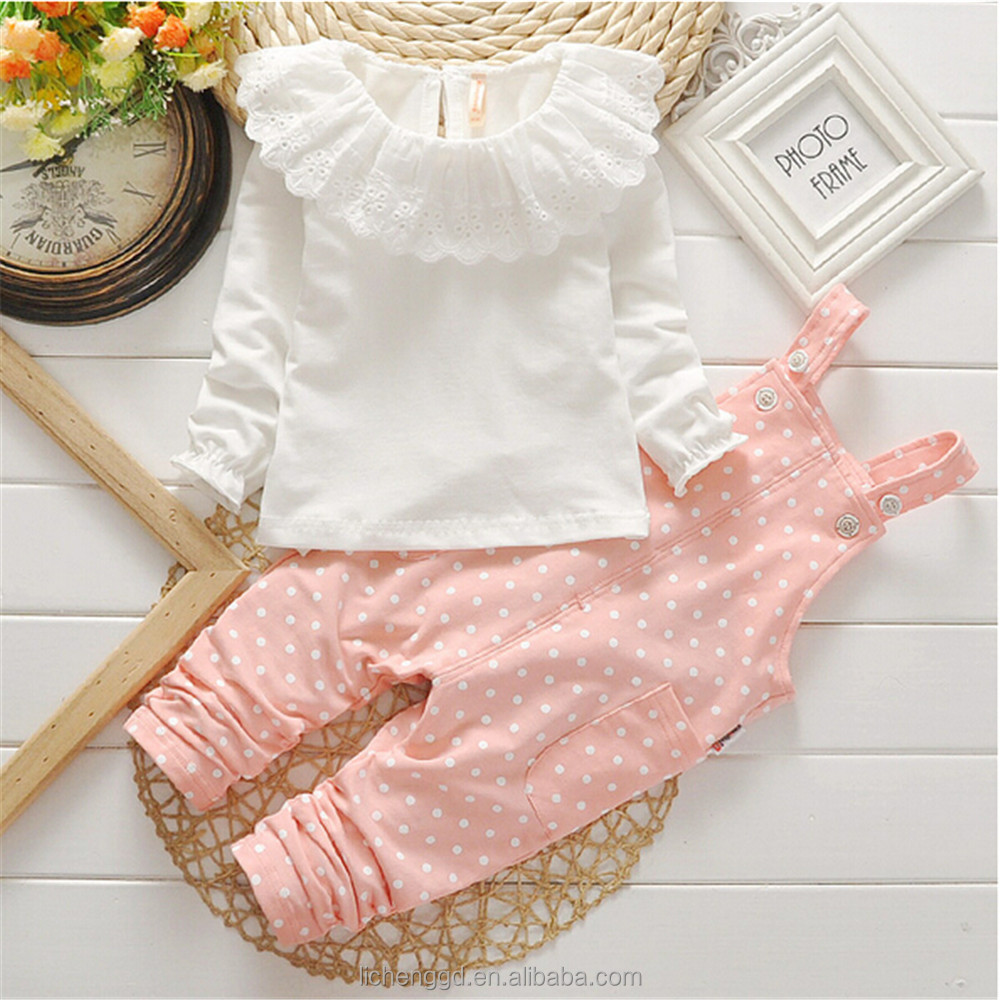 (HG1015) New Korean boutique baby girls clothing sets toddler girls fashion t shirts and long pants clothing sets for children