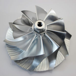 casting aluminum custom precision titanium billet turbo compressor wheel specially by your drawing